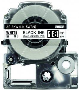 schwarz auf weiß - 100% LK-5WBN (18 mm) komp.