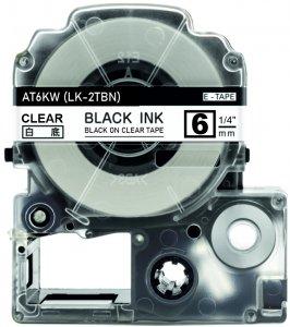 schwarz auf transparent - 100% LK-2TBN (6 mm) komp.