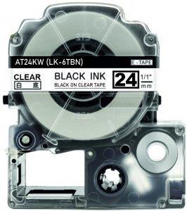 schwarz auf transparent - 100% LK-6TBN (24 mm) komp.