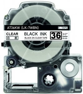 schwarz auf transparent - 100% LK-7TBN (36 mm) komp.