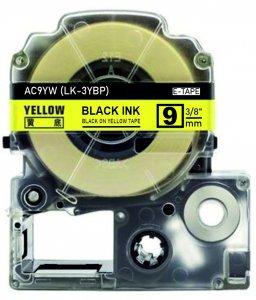 schwarz auf gelb - 100% LK-3YBP (9 mm) komp.