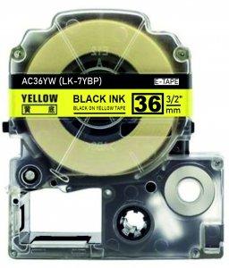 schwarz auf gelb - 100% LK-7YBP (36 mm) komp.
