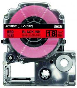 schwarz auf rot - 100% LK-5RBP (18 mm) komp.