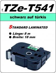 schwarz auf türkis - 100% TZe-T541 (18 mm) komp.