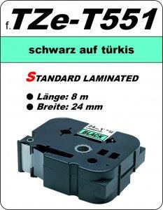 schwarz auf türkis - 100% TZe-T551 (24 mm) komp.