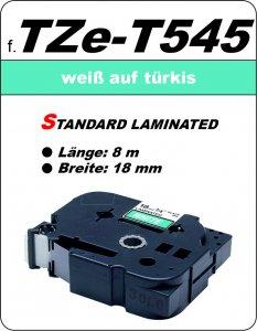 weiß auf türkis - 100% TZe-T545 (18 mm) komp.