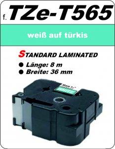 weiß auf türkis - 100% TZe-T565 (36 mm) komp.