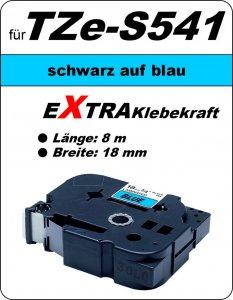 schwarz auf blau - 100% TZe-S541 (18 mm) komp.