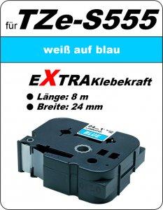 weiß auf blau - 100% TZe-S555 (24 mm) komp.