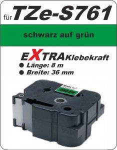 schwarz auf grün - 100% TZe-S761 (36 mm) komp.