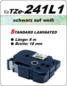 schwarz auf weiß - 100% TZe-241L1 (18 mm) komp.
