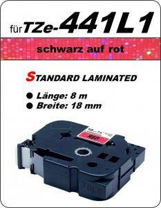 schwarz auf rot - 100% TZe-441L1 (18 mm) komp.
