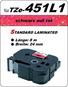 schwarz auf rot - 100% TZe-451L1 (24 mm) komp.