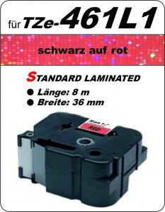 schwarz auf rot - 100% TZe-461L1 (36 mm) komp.