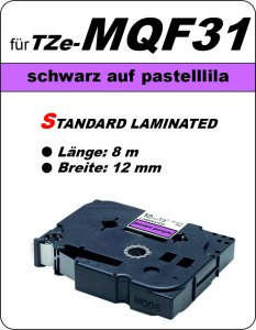 schwarz auf pastelllila - 100% TZe-MQF31 (12 mm) komp.