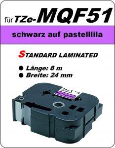 schwarz auf pastelllila - 100% TZe-MQF51 (24 mm) komp.