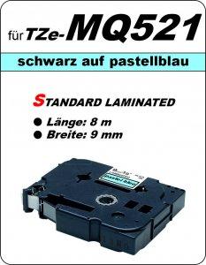 schwarz auf pastelllila - 100% TZe-MQ521 (9 mm) komp.