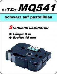 schwarz auf pastellblau - 100% TZe-MQ541 (18 mm) komp.