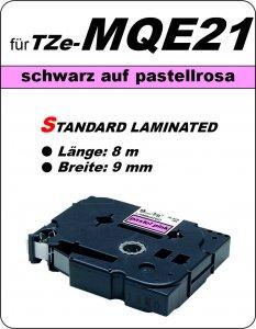 schwarz auf pastellrosa - 100% TZe-MQE21 (9 mm) komp.