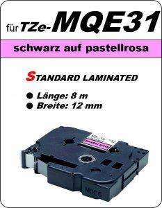 schwarz auf pastellrosa - 100% TZe-MQE31 (12 mm) komp.