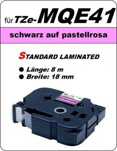 schwarz auf pastellrosa - 100% TZe-MQE41 (18 mm) komp.