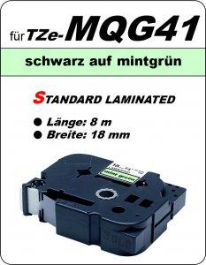 schwarz auf mintgrün - 100% TZe-MQG41 (18 mm) komp.