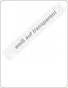 weiß auf transparent