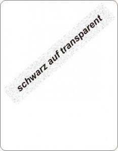 schwarz auf transparent