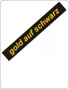 gold auf schwarz