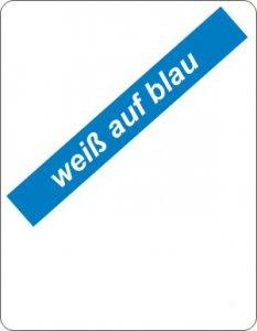 weiß auf blau