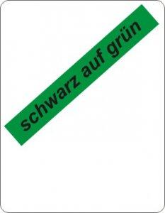 schwarz auf grün