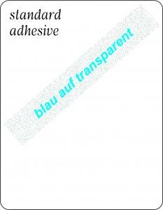 blau auf transparent