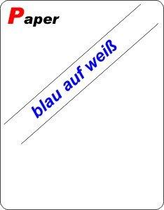 blau auf weiß