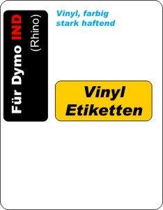 farbige Vinyl-Etiketten