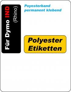 permanent Polyester-Etiketten
