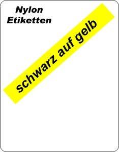 schwarz auf gelb