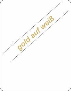 gold auf weiß