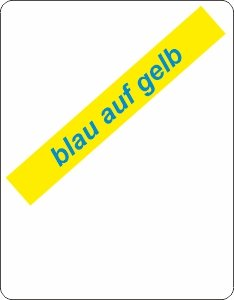 blau auf gelb