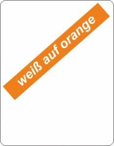 weiß auf orange