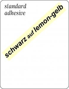 schwarz auf lemon-gelb
